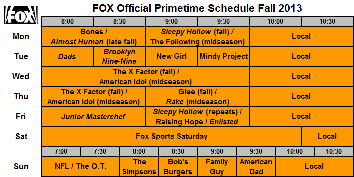 Fox Tv Guide