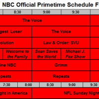 NBC Official Schedule Fall 2013