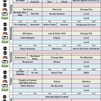 Broadcast Grids SBD Fall 2016 ABC NBC FOX