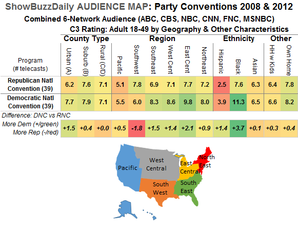 Audience Map RNC DNC 2008 2012 Region Ethnicity