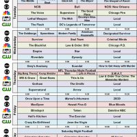 Network Schedule Fall 2017 NBC FOX ABC CBS CW